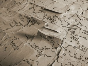 Fabric in the Archival Cotton Range can be used in archival map restoration.